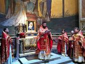 В канун тезоименитства Святейшего Патриарха Кирилла в Риме совершено богослужение на мощах святого равноапостольного Кирилла
