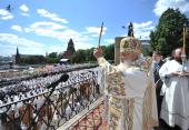 В День славянской письменности и культуры Святейший Патриарх Кирилл и Блаженнейший Архиепископ Иероним совершили праздничный молебен на Красной площади