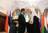 Встреча Святейшего Патриарха Кирилла с Председателем Правительства РФ Д.А. Медведевым