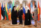 Святейший Патриарх Кирилл и Блаженнейший Архиепископ Иероним встретились с Президентом России В.В. Путиным