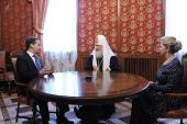 Председатель Правительства РФ Д.А. Медведев поздравил Предстоятеля Русской Церкви с днем тезоименитства