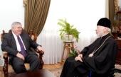 Блаженнейший митрополит Киевский Владимир встретился с послом США Джоном Теффтом