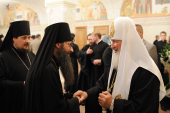 В Храме Христа Спасителя состоялся прием по случаю дня тезоименитства Святейшего Патриарха Московского и всея Руси Кирилла