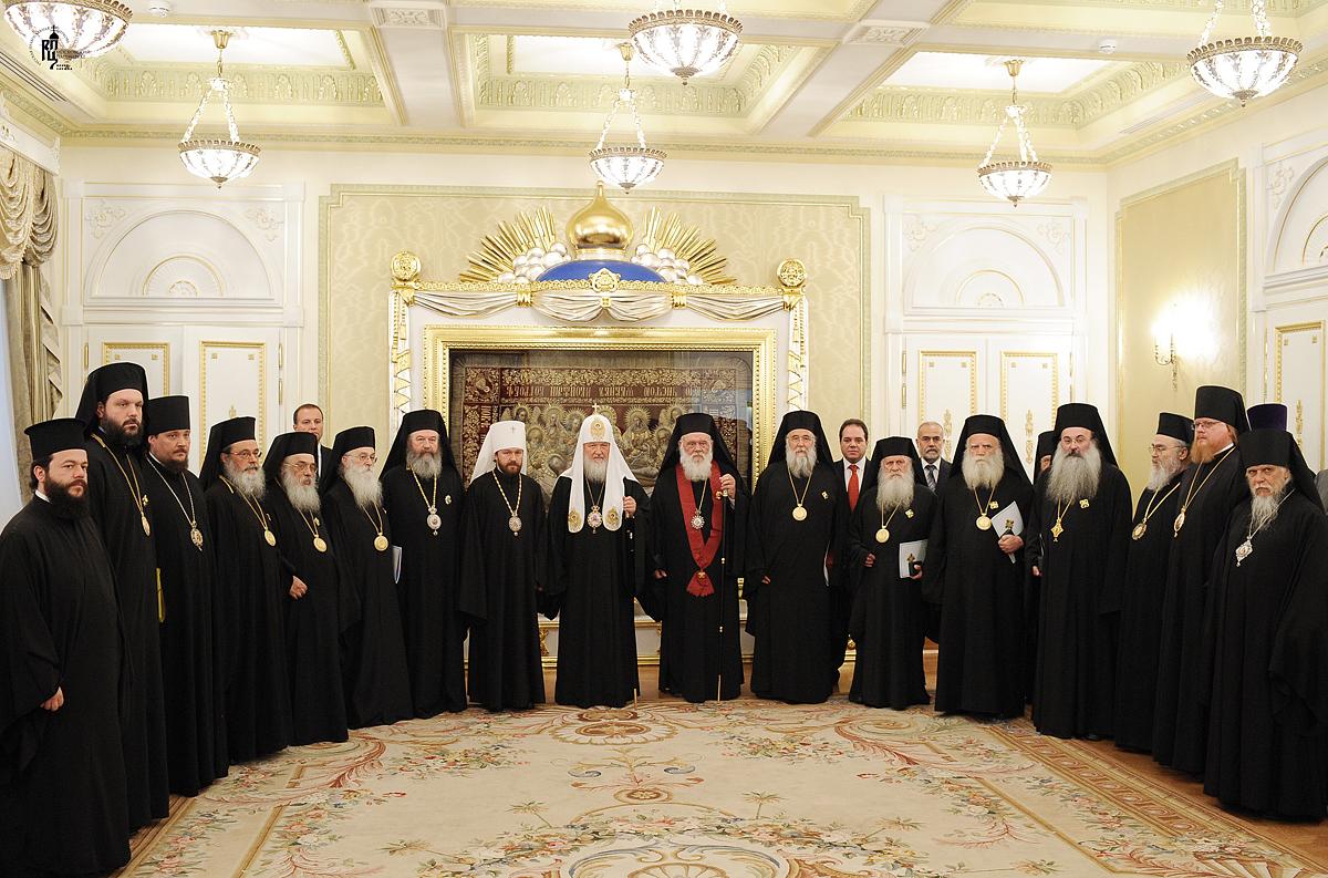 Братская беседа Святейшего Патриарха Кирилла и Блаженнейшего Архиепископа Афинского Иеронима