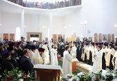 Предстоятель Русской Церкви совершил молебен новомученикам и исповедникам Казахстанским в Успенском кафедральном соборе г. Астаны
