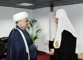Состоялась встреча Святейшего Патриарха Кирилла с председателем Управления мусульман Кавказа