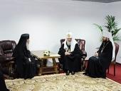 Состоялась встреча Святейшего Патриарха Кирилла с Предстоятелем Иерусалимской Православной Церкви