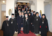 Делегация Элладской Православной Церкви посетила посольство Греции в Москвe
