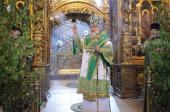 В день Святой Троицы Предстоятель Русской Церкви совершил Божественную литургию в Троице-Сергиевой лавре