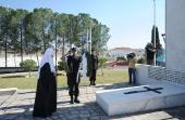 Святейший Патриарх Кирилл возложил венки к памятнику героям освободительного движения Кипра и воинскому мемориалу