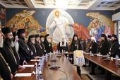 Святейший Патриарх Кирилл принял участие в торжественном заседании Священного Синода Кипрской Православной Церкви