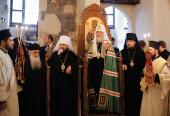Предстоятель Русской Православной Церкви посетил монастырь святого Ираклидия