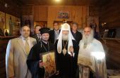 Святейший Патриарх Кирилл освятил место строительства первого русского храма в Лимасоле