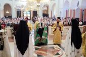 Предстоятели Русской и Кипрской Православных Церквей совершили Божественную литургию в самом большом храме Кипра
