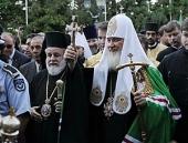 Святейший Патриарх Кирилл посетил Киккский монастырь