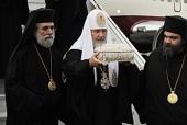 Ковчег с мощами святого праведного Лазаря Четверодневного доставлен в Москву