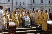 В Киево-Печерской лавре молитвенно отметили 20-ю годовщину прибытия Блаженнейшего митрополита Владимира в Киев