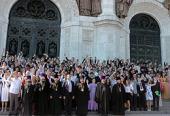 В Храме Христа Спасителя прошел традиционный выпускной акт православных общеобразовательных учебных заведений г. Москвы