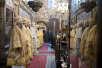 Патриаршее служение в Успенском соборе Московского Кремля в день памяти святителя Ионы, митрополита Московского.