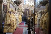 Патриаршее служение в день памяти святителя Ионы, митрополита Московского, в Успенском соборе Московского Кремля