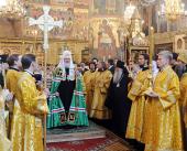 В день памяти святителя Иова, патриарха Московского, Предстоятель Русской Церкви совершил Литургию в Успенском соборе Московского Кремля