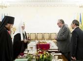 Святейший Патриарх Кирилл принял главу Мальтийского ордена Фра Мэтью Фестинга