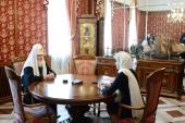 Святейший Патриарх Кирилл встретился с вице-премьером РФ по социальным вопросам О.Ю. Голодец