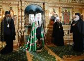Обращение Святейшего Патриарха Кирилла к насельникам и паломникам Валаамского монастыря в Спасо-Преображенском соборе обители