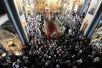 Патриаршее служение в Спасо-Преображенском соборе Валаамского монастыря