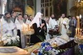 Святейший Патриарх Кирилл простился с многолетним сотрудником ОВЦС протоиереем Аркадием Тыщуком
