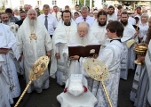 Митрополит Ювеналий освятил храм свв. апп. Петра и Павла в подмосковном Екатерининском монастыре