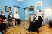 Состоялась беседа Святейшего Патриарха Кирилла с руководителями учебных заведений Смоленской епархии
