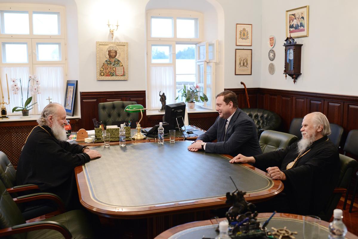 Встреча Святейшего Патриара Кирилла с губернатором Смоленской области