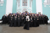 Общая фотография с духовенством Смоленской епархии после всенощного бдения в Успенском кафедральном соборе г. Смоленска