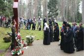 Святейший Патриарх Кирилл посетил мемориальный комплекс «Катынь»