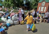 Крымск после наводнения. Работа церковного штаба оказания помощи пострадавшим
