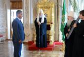 Святейший Патриарх Кирилл встретился с губернатором Московской области С.К. Шойгу