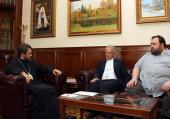 Митрополит Волоколамский Иларион встретился с руководством Международного общественного фонда «Триумф сердца»