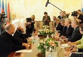 Святейший Патриарх Кирилл принял председателя Совета министров Италии Марио Монти