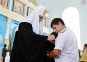 Предстоятель Русской Церкви посетил Казанский храм г. Крымска
