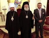 Митрополит Волоколамский Иларион встретился с Патриархом Александрийским и всей Африки Феодором II
