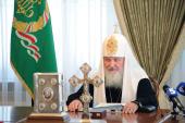 В Киево-Печерской лавре под председательством Святейшего Патриарха Кирилла началось очередное заседание Священного Синода Русской Православной Церкви