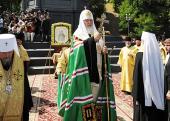 Слово Святейшего Патриарха Кирилла после молебна у памятника Крестителю Руси на Владимирской горке в Киеве