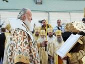 В канун дня памяти святого равноапостольного князя Владимира Предстоятель Русской Церкви совершил всенощное бдение в Киево-Печерской лавре
