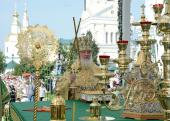 В день памяти преподобного Серафима Саровского Предстоятель Русской Церкви совершил Литургию в Серафимо-Дивеевском монастыре и возглавил хиротонию архимандрита Питирима (Творогова) во епископа Душанбинского и Таджикистанского