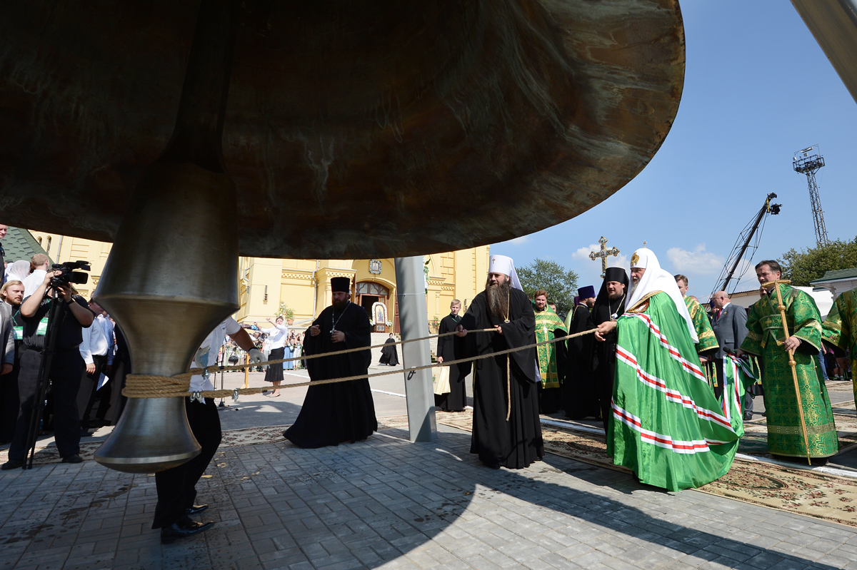 Первосвятительский визит в Нижегородскую митрополию. Освящение колокола «Соборный»