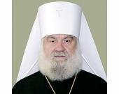 Патриаршее поздравление митрополиту Черкасскому Софронию с 20-летием архиерейской хиротонии