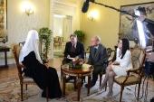 Интервью Святейшего Патриарха Кирилла представителям польских средств массовой информации