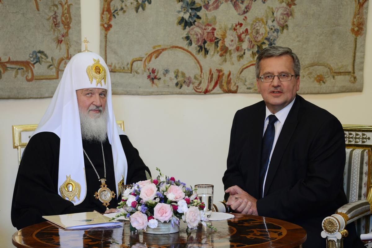 Визит Святейшего Патриарха Кирилла в Польшу. Встреча с Президентом Республики Польша Брониславом Коморовским