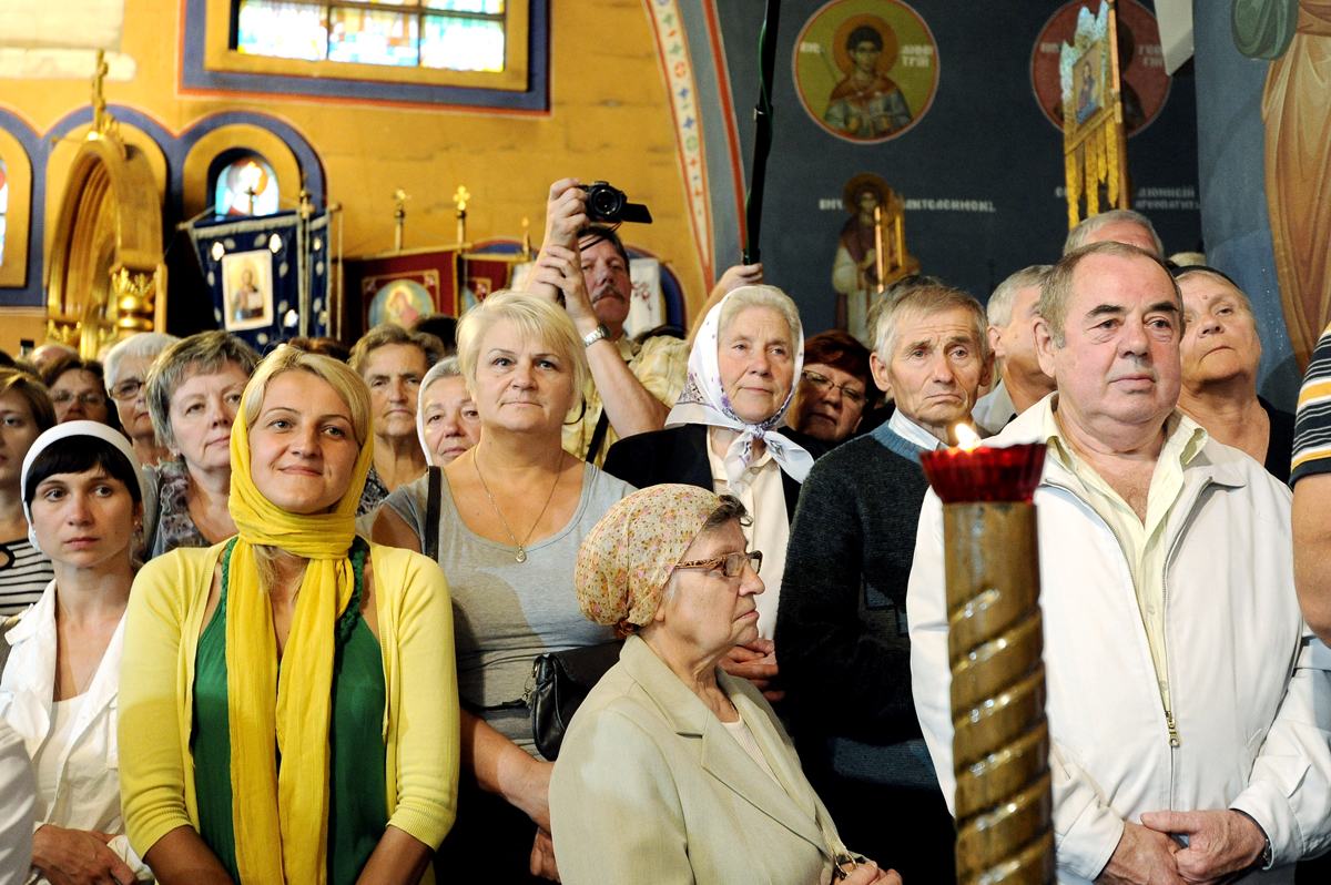 Визит Святейшего Патриарха Кирилла в Польшу. Посещение Троицкого собора в г. Гайновке